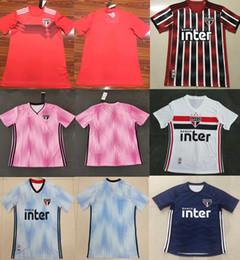 brazil away l camisa de futebol Desconto 2019 2020 Thai Brasil Clube São Paulo camisa de futebol de casa Hernanes Goleiro camisa de futebol uniforme sao paulo 19-20 afastado camiseta de futebol