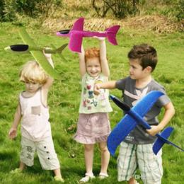Planeurs en mousse en Ligne-Modèle de planeur de lancement de mousse de 48cm Air Avion Inertia Avion Jouet Main Lancement Avion Modèle Pour glisser l'avion Jouet Volant pour Enfants Cadeau