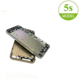 probando la batería del iphone Rebajas Para el iPhone 5s cuadro de la carcasa caja de batería de la puerta trasera de la cubierta de chasis probados de alta calidad de reparación de piezas de repuesto para iPhone5s Shell