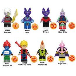 Dragon Ball Z Kaio Sgin Goku Ssj Xeno Zamasu Android 16 Majin Boo Dyspo Android 13 Bills Mini Figurine Jouet Building Block Briques ? partir de fabricateur