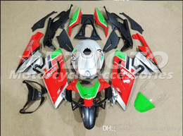rs4 kit Promo Codes - Injection mold Fairing KIT for Aprilia RS4 125 06 07 08 09 10 11 RS4 RSV 125 2006 2009 2011Green Red ABS Fairings set+3gifts APP6