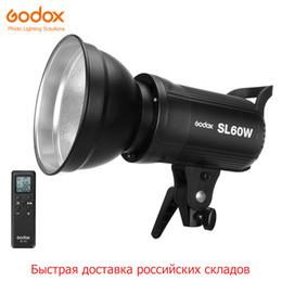 tubo led video Rebajas industria ing Free DHL Godox LED SL-60W 5600K versión blanca Video Bowens Light de montaje continuo para grabación de video de estudio