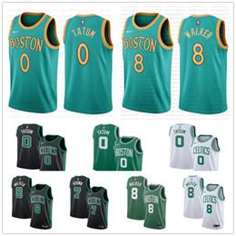 camisetas de baloncesto marrón Rebajas Hombres camiseta de Boston Celtic Kemba Walker nº 8 Jayson # 0 Tatum Larry Bird 33 Clásicos Jaylen 7 camisetas de baloncesto Brown Gordon Hayward 20