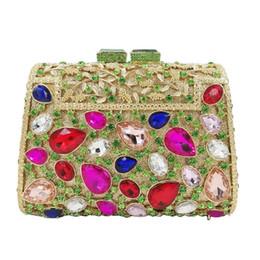 fackelkupplungen Rabatt Kasten-Form-bunte Kristallabend-Beutel-Luxuxkristallpartei-Handtaschen-Abschlussball-Handtaschen-Frau A629