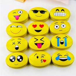18 pçs / lote kawaii todos os tipos de expressão caixas de lata diy multifunções caixa de jóias / caixa de cigarro / caixa de metal colecionáveis de