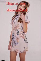 falda corta de las mujeres chinas Rebajas Mujeres 2019 venta caliente marca vestidos de verano Impreso Delgado chino Cheongsam vestido de manga corta marca ropa de mujer falda corta de alta calidad