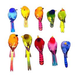 Pássaros ornamento on-line-4 PCS, Comprimento / 6-10 CM, Espuma Artificial Pássaros Do Amor Colorido, Ímã / Clipe No Abdômen, Decoração de Casamento DIY, Pássaro Enfeite De Natal