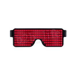 Gafas de sol brillantes online-8 Modos de flash rápida USB de carga USB Led luminosos Partido Gafas de sol Resplandor de la luz del concierto Juguetes de Navidad decoraciones MMA2342