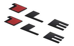 Escritura de plástico online-2 unids 1LE ABS Del Coche Carta 3D Personalizado Trasero Tronco O Guardabarros Lado Placa de Identificación Placas de Emblema de Escritura Pegatinas Calcomanía
