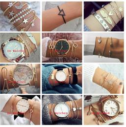 mondcharme armband Rabatt 20 Arten Art- und Weisepunkgoldkettenmond-Blatt-Kristallgeometrie-geöffnetes Armband-gesetzte Frauen-Charme-Strand-Schmucksachen ALXY001