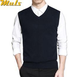 2019 коричневый повседневный жилет для мужчин Mens vest sweaters casual style wool knitted business men sleeveless vest blusas 4XL Muls  Brown Gray Black Navy MS16035 дешево коричневый повседневный жилет для мужчин