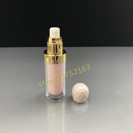 2019 bouteilles de lotion rose 20PCS / lot 30ML de haute qualité acrylique rose en forme de diamant bouteille vide, bouteille de lotion, bouteille d'essence liquide pour fond de teint pour émulsion bouteilles de lotion rose pas cher