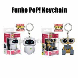2019 pops ringt Funko Pop Keychain Action-Figur EVE Wall-E PoP Schlüsselanhänger Funko Pop! Spielzeug Kids Best Gifts rabatt pops ringt