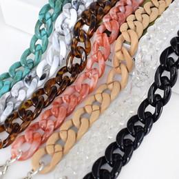 Leather handbags accessories online-B-C007 Meetee Acrílico Resina Bolso plástico Cadena Bolso de cuero desmontable ajustable Correa bolsa de accesorios ColorBelt
