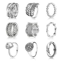 2019 klar zirkonoxid ring pandora Neues Design 100% authentische 925 Sterling Silber Pandora Ring mit klaren Zirkonia für Frauen Hochzeit Ringe Trendy Schmuck Geschenk günstig klar zirkonoxid ring pandora