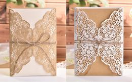 2019 convites livres do acoplamento Corte a laser branco elegante padrão West Cowboy estilo convites de casamento do vintage cartão Kit papel em branco impressão convite