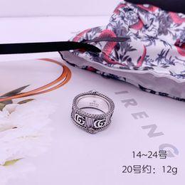 anillos de juego de tronos Rebajas Top diseño de lujo de plata esterlina anillo retro tridimensional de la personalidad Anillo Rey Serpiente rayada tendencia anillo salvaje Hop hip pareja