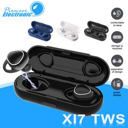 Carregamento sem fio xiaomi on-line-Xi7 tws sem fio bluetooth fones de ouvido 5.0 som 3d fones de ouvido fone de ouvido estéreo mini esporte fone de ouvido com caixa de carregamento para iphone x samsung xiaomi