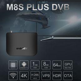 dvb s2 media player Desconto Caixa de TV MECOOL M8S PLUS Android 7.1 DVB-S / S2 / S2X Caixa Set-top Amlogic S905D 1 GB8 GB TV 4K Airplay Miracast Media Player WiFi