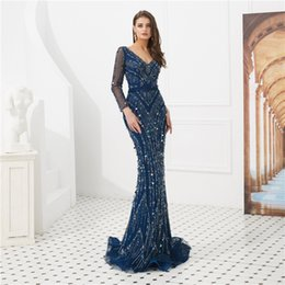 6deef4b0 Shiny Prom Dresses V-Neck String Pearl Sequins Beads Zipper Mopping Formal  Evening Gown Special Occasion Dresses