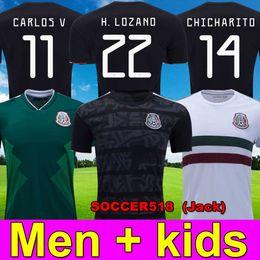 Kinder r online-2019 Mexiko Blackout Gold Cup Trikots LOZANO G. DOS SANTOS KIDS CHICHARITO grüne Trikots R. JIMENEZ MARQUEZ CARVOS V.