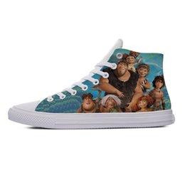 2019 belles chaussures d'été décontractées 2019 Chaude Belle Mode Vogue D'été Casual Chaussures Chaussures Handiness Sneakers 3D Imprimer Drôle De Bande Dessinée Film Pour Hommes Femmes Le Croods promotion belles chaussures d'été décontractées