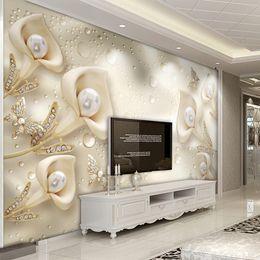 Özel Fotoğraf Duvar Kağıdı 3D Çiçek Kelebek İpek Su Damlası Arka Plan Duvar Kağıtları Ev Dekor Oturma Odası TV Duvar Boyama nereden