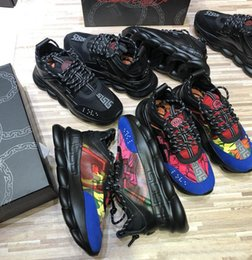2019 chaussures de travail oxford femme toutes les couleurs de haute qualité chaîne Reaction baskets designer de luxe baskets mode district chaussures taille 35-46 cuir véritable chaussures de sport