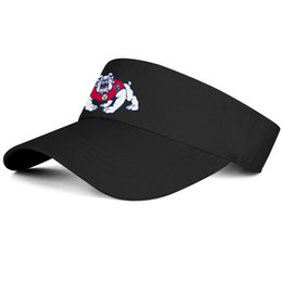 Tappi in bianco nero online-1Fresno State Bulldogs football logo black man tennis hat truck driver design design custom hat blank fashion baseball cap personalizzata