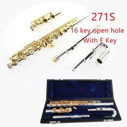 professionelle okarina Rabatt Japan Professionelle Flöte 271S Mit E 16 Loch Offenes Loch C ton Silber überzogene silber Gold Key Flöte Musikinstrument flöte kostenloser versand