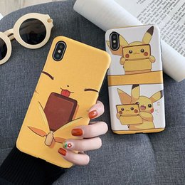 2019 seda preciosa Caja del teléfono Pikachu de dibujos animados de seda preciosa en relieve para iphone xr 6 7 8 X Plus Xs Max Hot Soft TPU cajas del teléfono celular rebajas seda preciosa