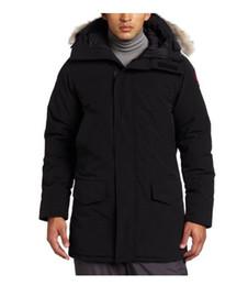самое теплое длинное пальто Скидка 2019 Канада зима бренд мужской дизайнер экспедиции Наружная мужская толстый гусиный пух душка 90% проложенный теплое пальто Канада длинный пуховик