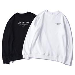pull classique Promotion En gros 2019 Printemps / Automne Hommes Paris Fashion Atelier Coton Imprimer Sweat Classique De Luxe Designer Pull Jumper Top