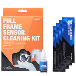 2019 toallitas húmedas kit clean DSLR de cámara completa Sensor de cámara réflex digital CCD / CMOS Kit de limpieza VSGO DDR-24 para cámaras digitales Matrix Clean