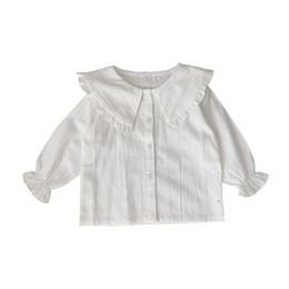 cb177bc0c Distribuidores de descuento Camisa Blanca Con Cuello Volante De Niña ...