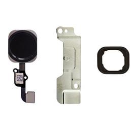 Junta de iphone online-Para iPhone 6s 6s Plus Tecla de botón de inicio Conjunto de cable flexible con junta de goma + soporte de metal Pieza de repuesto