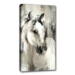 Deutschland Handgemaltes Ölgemälde Auf Leinwand Gerahmte Abstrakte Tier Pferd Bild Abstrakte Wandkunst Wohnzimmer Kinderzimmer Wanddekor Versorgung