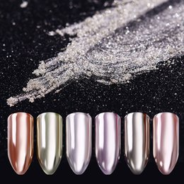 Canada poussière BORN PRETTY Silver Mirror Powder Shinning Art Gel Pigment Chrome Ongles Glitter Poussière Glitter Nailart Nail Dipping Dipping UV Gel cheap pretty nails Offre