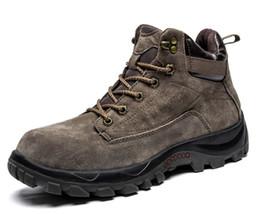 appartements pour l'hiver Promotion 2018 hommes bottes d'hiver hommes travail de plein air chaussures coton mode bottes pour homme randonnée appartements et chaussures d'escalade