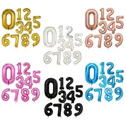 Надувные номера онлайн-32 Дюймов Гелий Воздушный Шар Номер Буквы Shaped Золото Серебро Надувные Баллоны День Рождения Свадебные Украшения Событие Праздничные Атрибуты OOA2647
