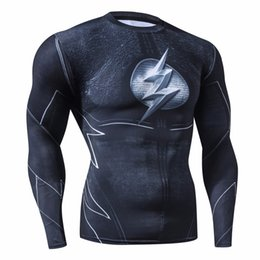 Rashguard Hombres Marca de Ropa de Moda Camisa de Compresión de Flash Traje de Cosplay de Secado rápido Ropa de Fitness Camiseta de Impresión 3D desde fabricantes