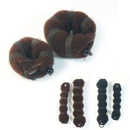 Завитки волос онлайн-NEW Women Girl Magic Style Hair Styling Tools Buns Braiders Curling Headwear Hair Rope Band Accessories