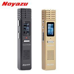 Hq registratore online-Noyazu Original X1 8gb Voice Recorder Voice Activated Recording Wav Hq Digital Audio Recorder Professional Mini Dictaphone Espia T190628
