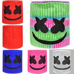 2020 dj hat Marshmello DJ máscara de cabeça de Unisex engraçado Brinquedos Headwear marshmello DJ Hats completa Capacete de Halloween Máscara Máscaras Cosplay MMA2330-2 dj hat barato