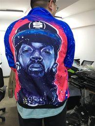 Sudadera raperos online-nipsey hussle XXXTENTACION Hoodies Hombre Skateboard 3D Cardigan Revenge Rapper Sudaderas