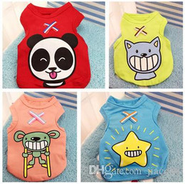ae0466356d1c New Summer Dog Clothes Apparel Cat Vest Small Sweater Pet supply Cartoon  Clothing Cotton t shirt For Puppy Poodle Cheap Jumpsuit Outfit