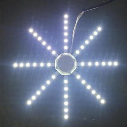 kreis blei Rabatt 5730SMD 56LED 500LM Octopus Schlafzimmer Decken Panel Licht Modul Lampenplatine 12 Watt 16 Watt 20 Watt 24 Watt LED Lichtquelle Lampenplatte