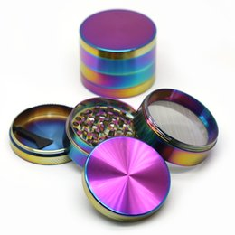 grinder scraper Coupons - Rainbow Grinders 4pc Herb Grinder 40mm 50mm 55mm 63mm Metal Grinders With Scraper Individual Packaging Zinc Alloy Material