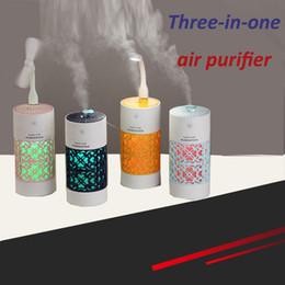 Nouveau chanceux tasse humidificateur Mini voiture surface de bureau aromathérapie purificateur d'air trois-en-un purificateur d'air usb chargeant avec veilleuse ? partir de fabricateur