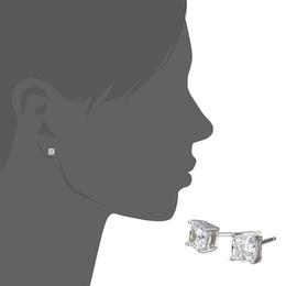 Nouveau Mode Femmes Mode Boucles D'oreilles Exquises Magnifique Transparent Carré Zircon Boucle D'oreille Nouveau Mode Bijoux Montre ? partir de fabricateur